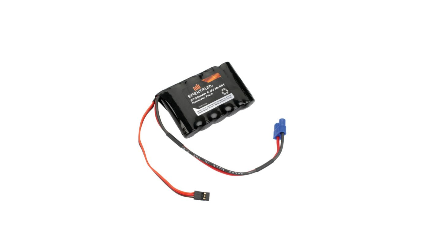 Image for 6.0V 2700mAh 5-Cell NiMH Flat Receiver Battery: Universal Receiver, EC3 from HorizonHobby