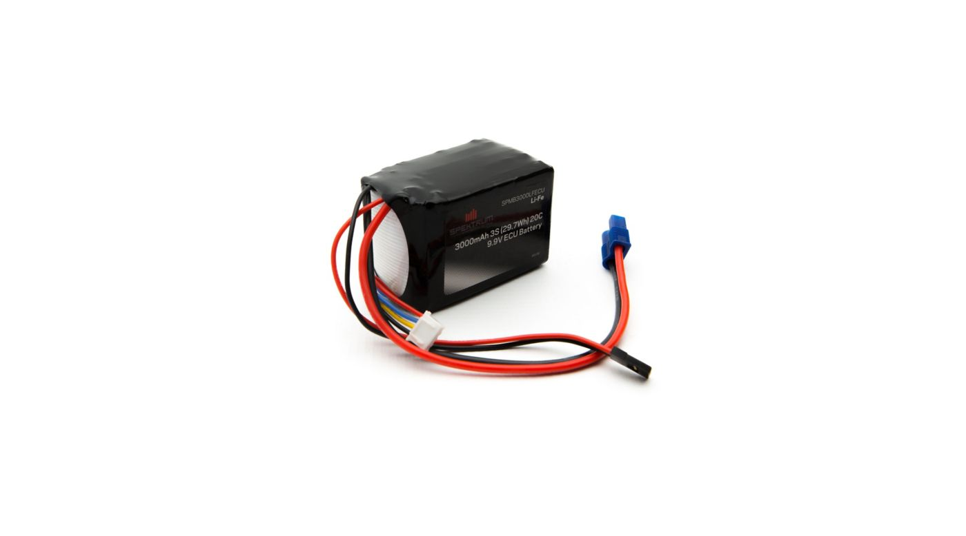 Image for 9.9V 3000mAh 3S LiFe ECU Battery from HorizonHobby