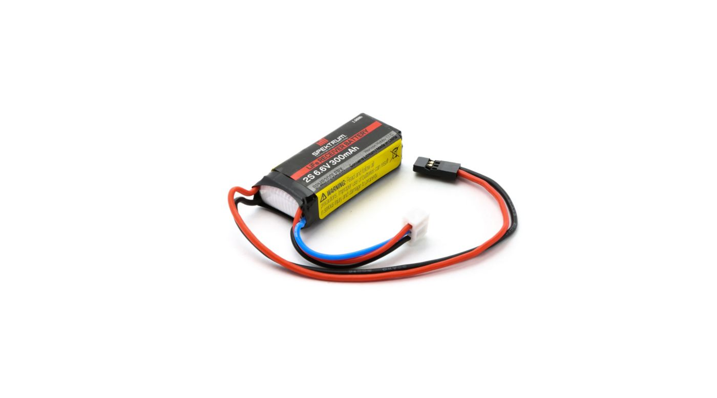 Image for 6.6V 300mAh 2S LiFe Receiver Battery: Universal Receiver, EC3 from HorizonHobby