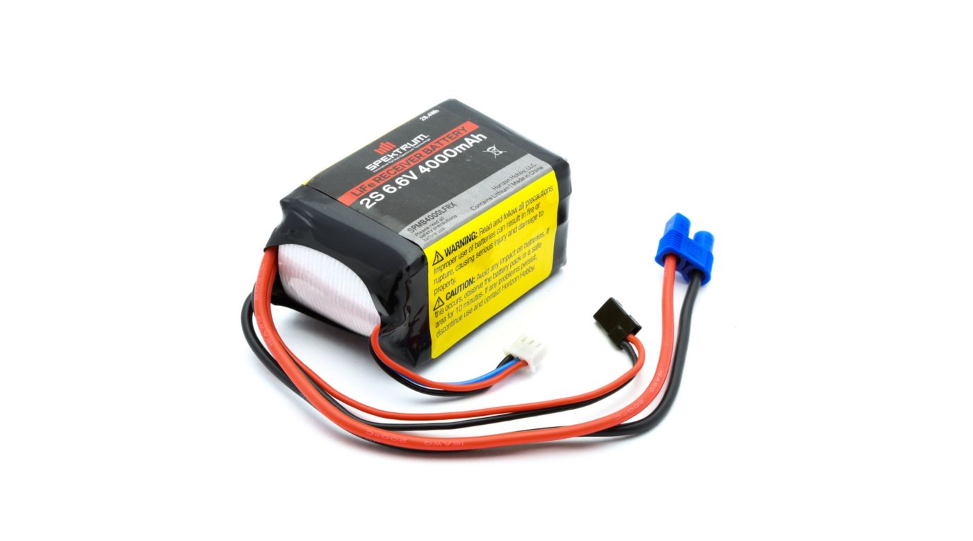 Image for 4000mAh 2S 6.6V LiFe Receiver Battery from HorizonHobby