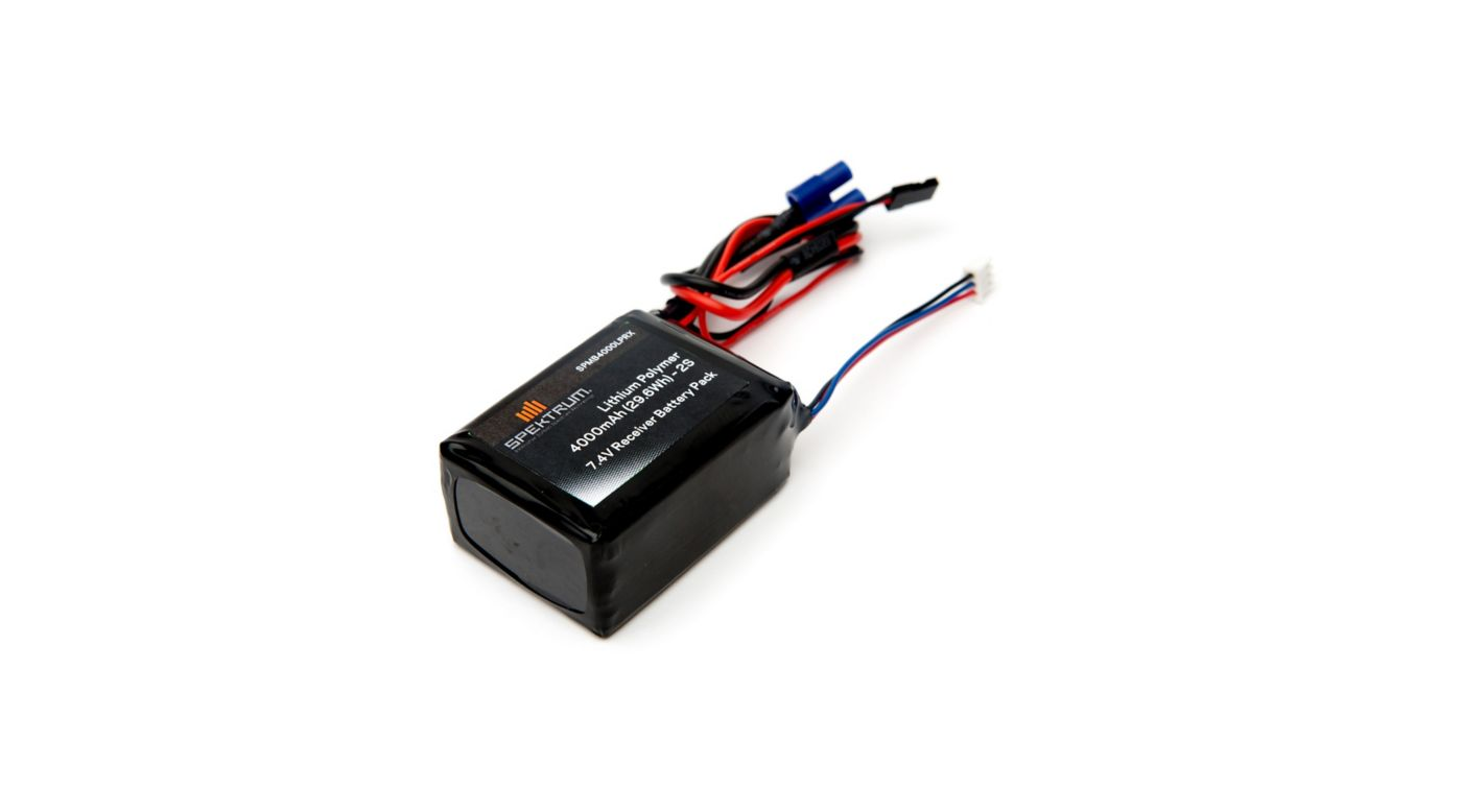 Image for 4000mAh 2S 7.4V LiPo Receiver Battery from HorizonHobby