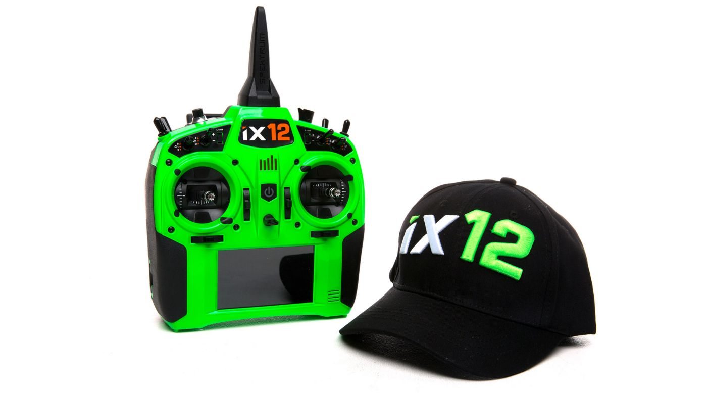 Image for iX12 12-Channel DSMX Transmitter Only, Green from HorizonHobby