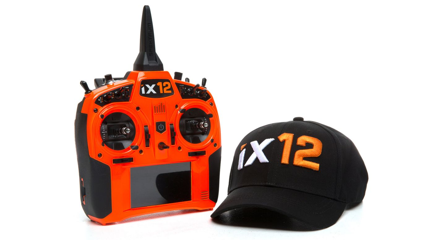 Image for iX12 12-Channel DSMX Transmitter Only, Orange from HorizonHobby