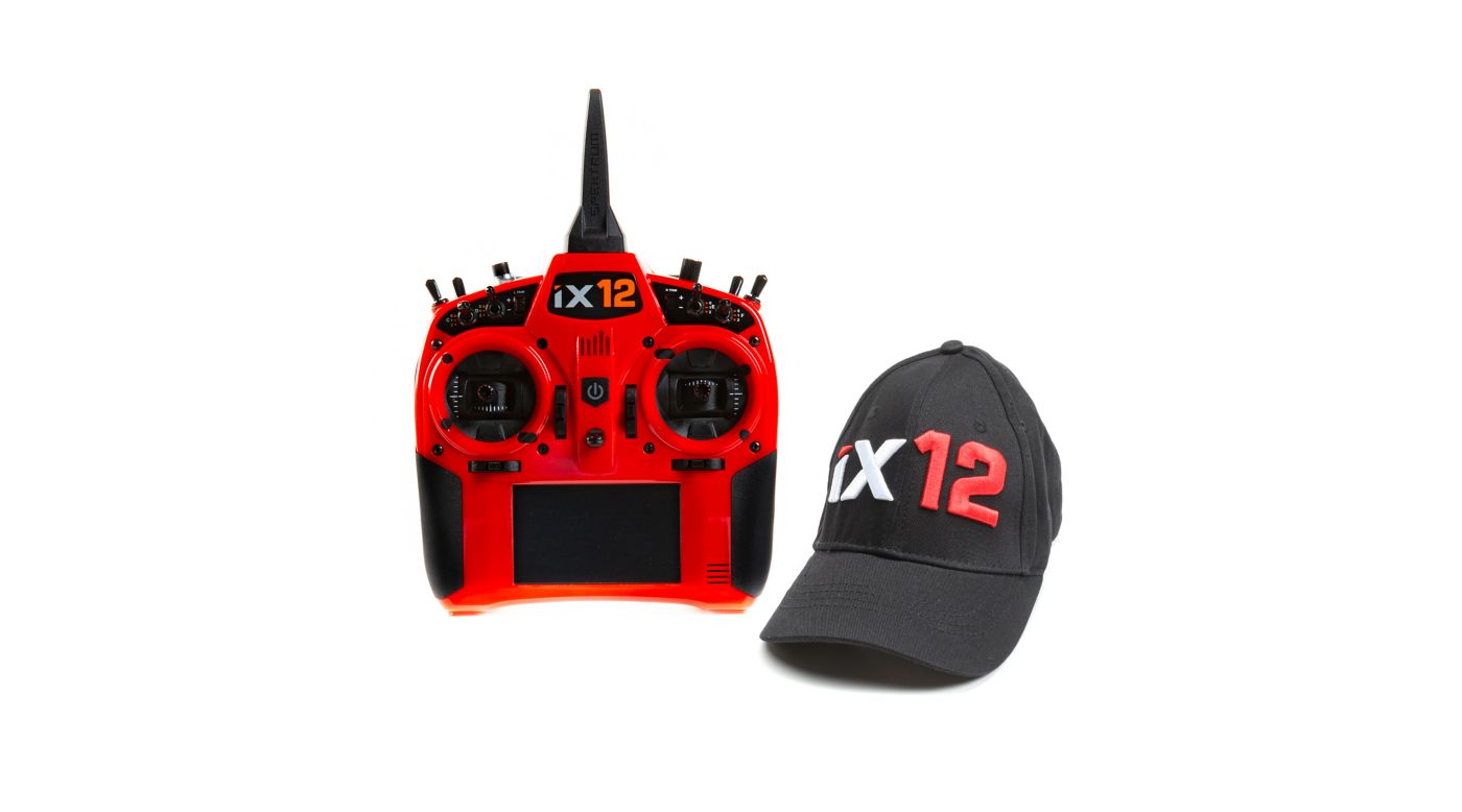 Image for iX12 12-Channel DSMX Transmitter Only, Red from HorizonHobby