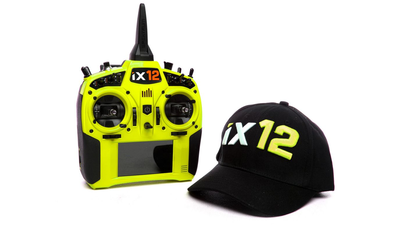 Image for iX12 12-Channel DSMX Transmitter Only, Yellow from HorizonHobby