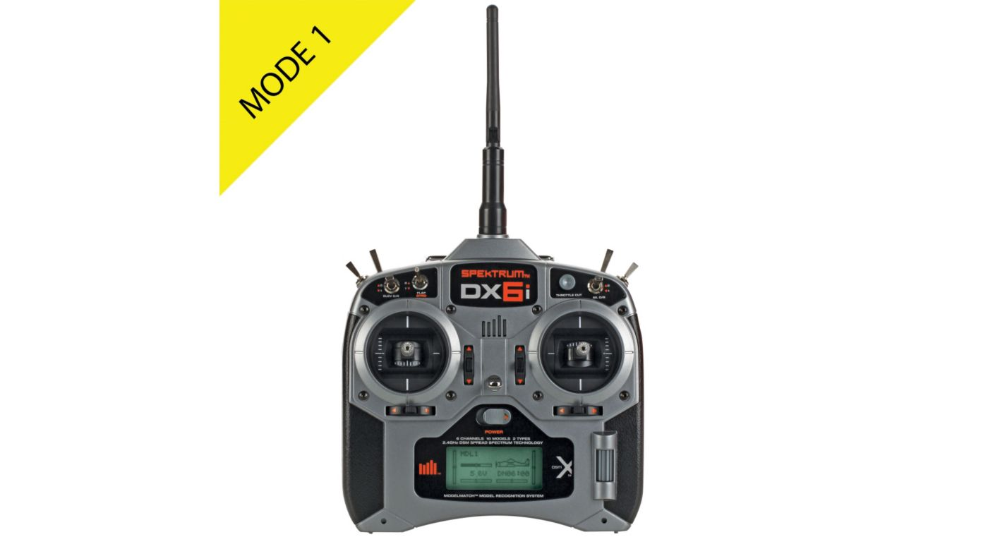 Image for DX6i 6-Channel DSMX® Transmitter Only, Mode 1 from HorizonHobby