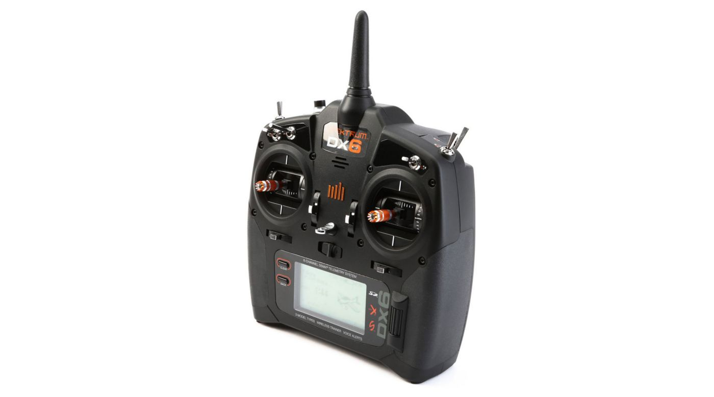 Image for DX6 6-Channel DSMX Transmitter Only Gen 2, Mode 2 from HorizonHobby