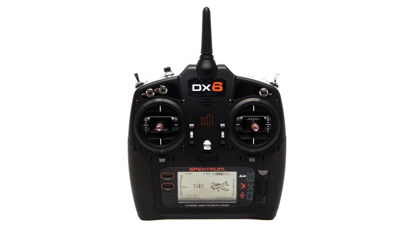 Image for DX6 6-Channel DSMX Transmitter Only, Mode 2 from HorizonHobby