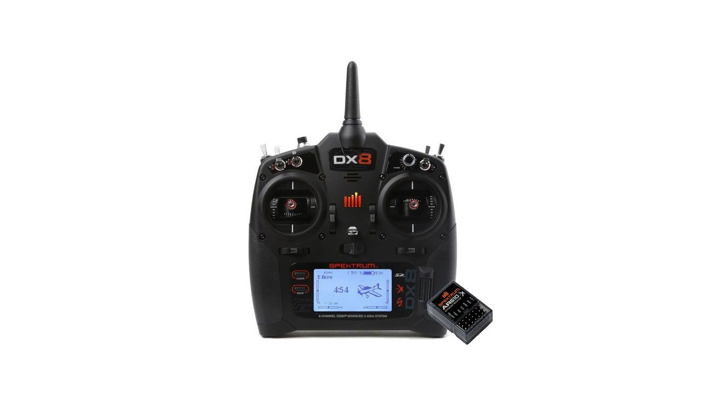 Grafik für DX8 Transmitter Only Mode 2 EU + AR610 in Horizon Hobby