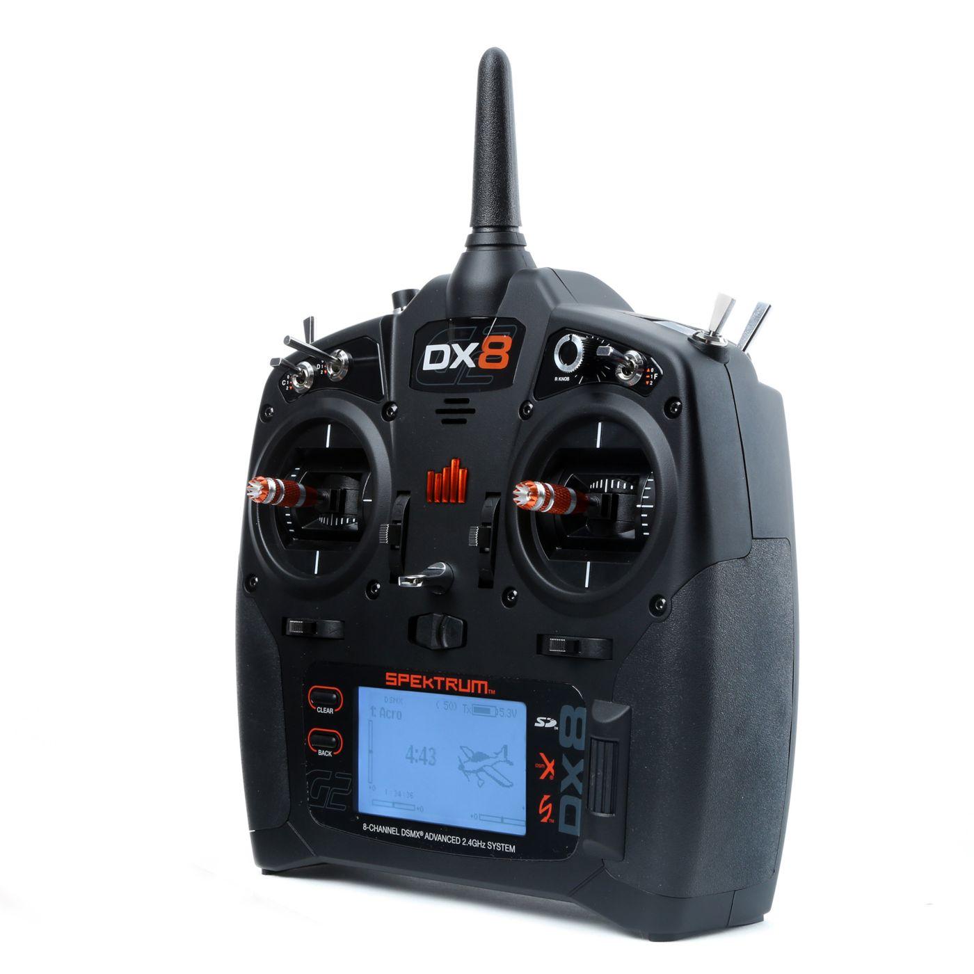 Spektrum™ DX8 Transmitter Only, Mode 2 RC Radio Transmitter