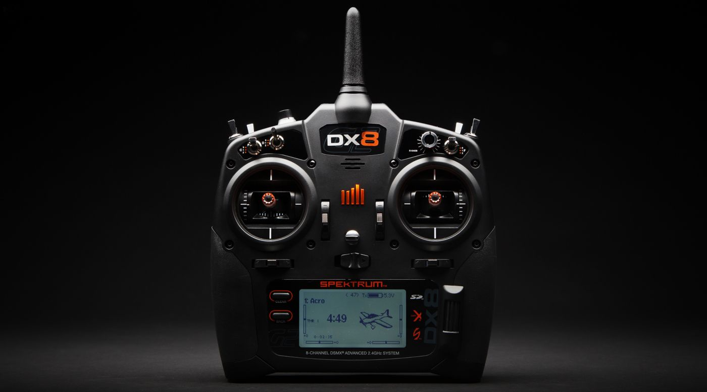 Image for DX8 8-Channel DSMX Transmitter Gen 2, Mode 2 from HorizonHobby