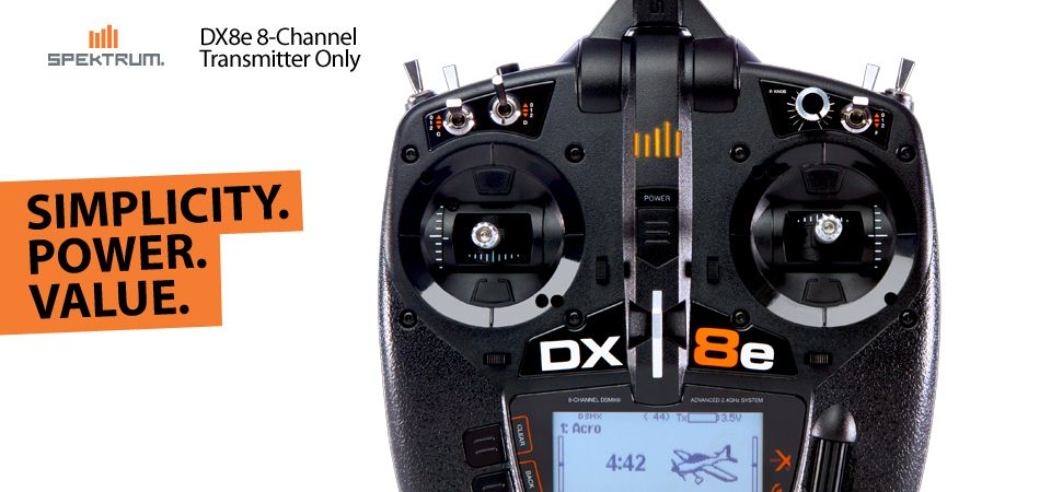 Spektrum DX8e DSMX Transmitter Radio