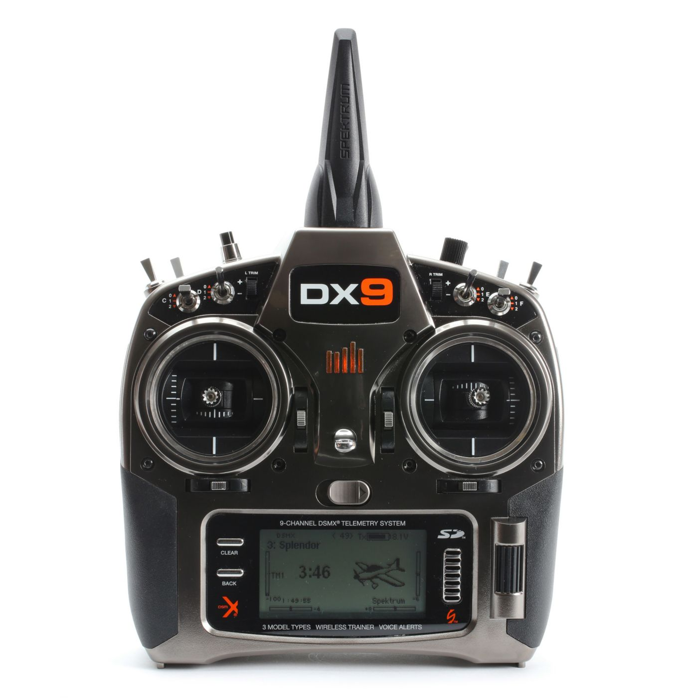 Spektrum Dx9 9 Channel Dsmx Programmable Radio Transmitter For Rc The Wireless Remote Control Equipment Is Delay Time Mode You Only