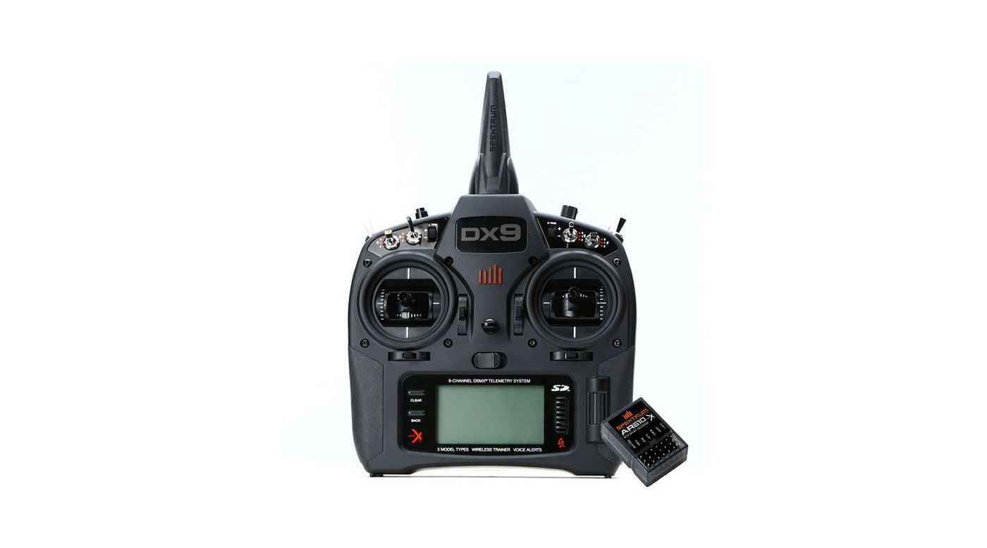 Grafik für DX9 Black 9-Channel Transmitter, Mode 2 EU + AR610 in Horizon Hobby