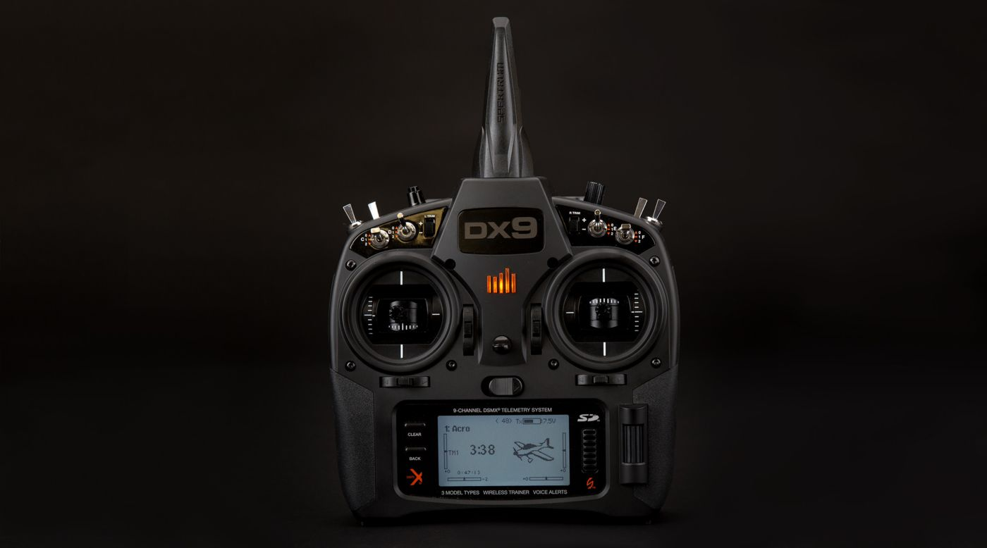 Image for DX9 Black 9-Channel DSMX Transmitter Only, Mode 2 from HorizonHobby