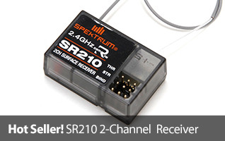 Bashers, boaters, rock crawlers - the SR210 recerver is ideal for anyone wanting a basic sport receiver