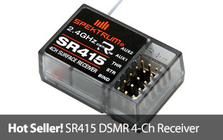 Bashers, boaters, rock crawlers - the SR415 recerver is ideal for anyone wanting a sport receiver