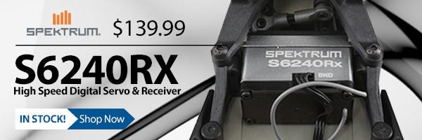 Save Weight, Save Space, Save money with the Spektrum S6240RX High Speed Digital Servo with DSMR Receiver