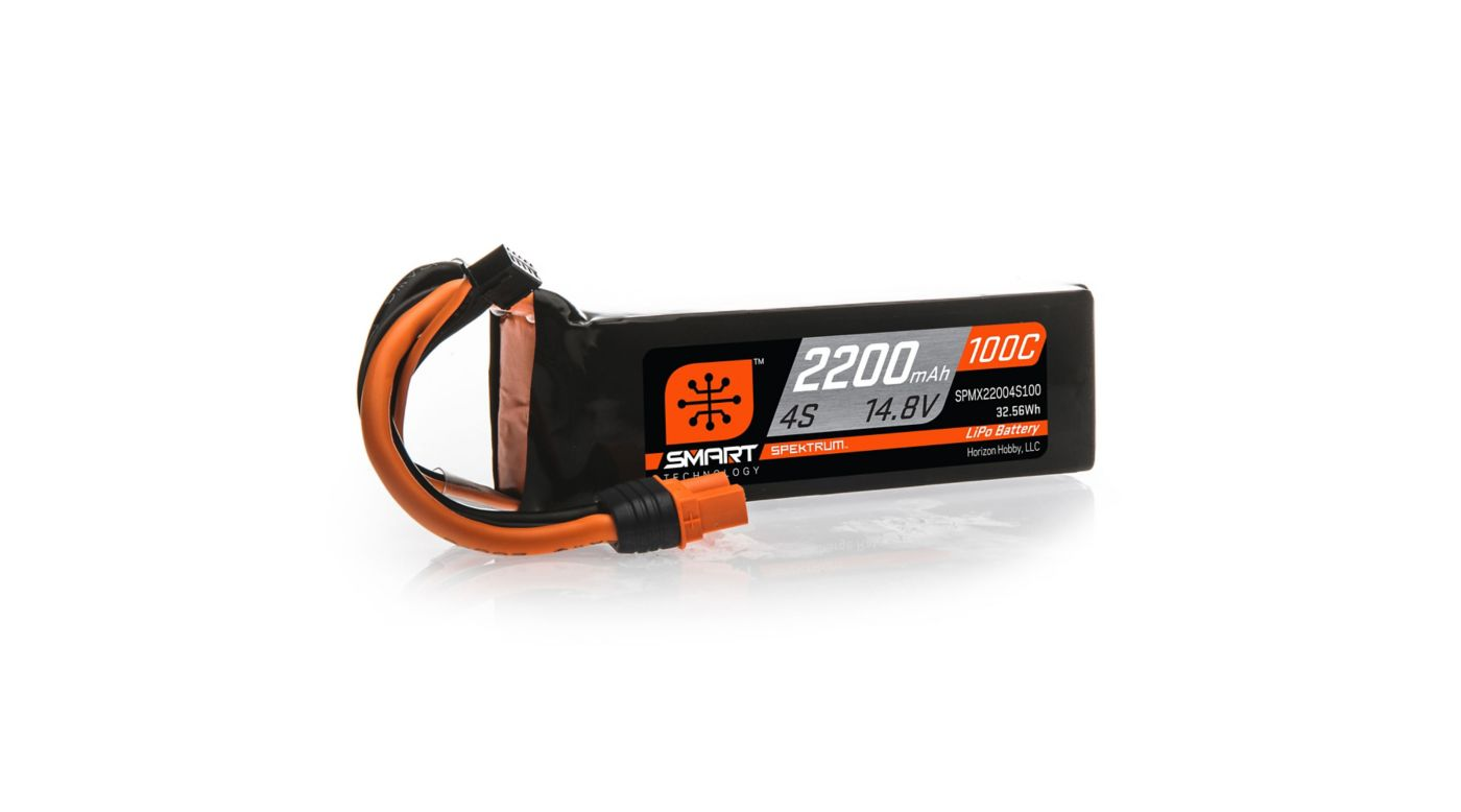 Image for 14.8V 2200mAh 4S 100C Smart LiPo Battery, IC3 from HorizonHobby