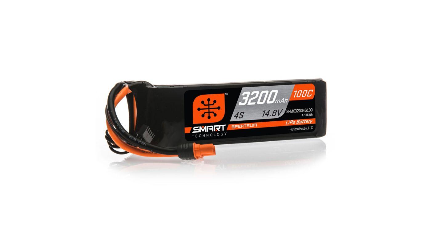 Image for 14.8V 3200mAh 4S 100C Smart LiPo Battery, IC3 from HorizonHobby