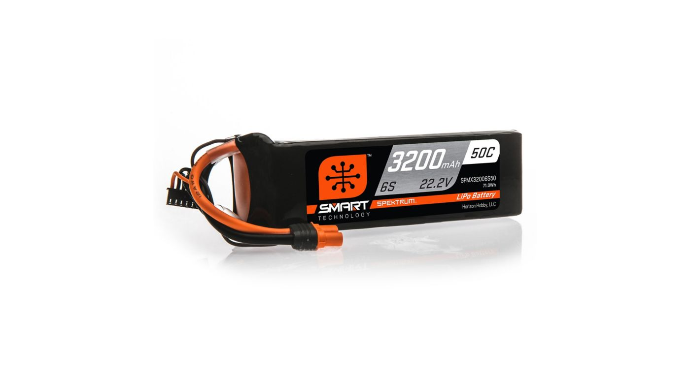 Image for 22.2V 3200mAh 6S 50C Smart LiPo Battery, IC3 from HorizonHobby