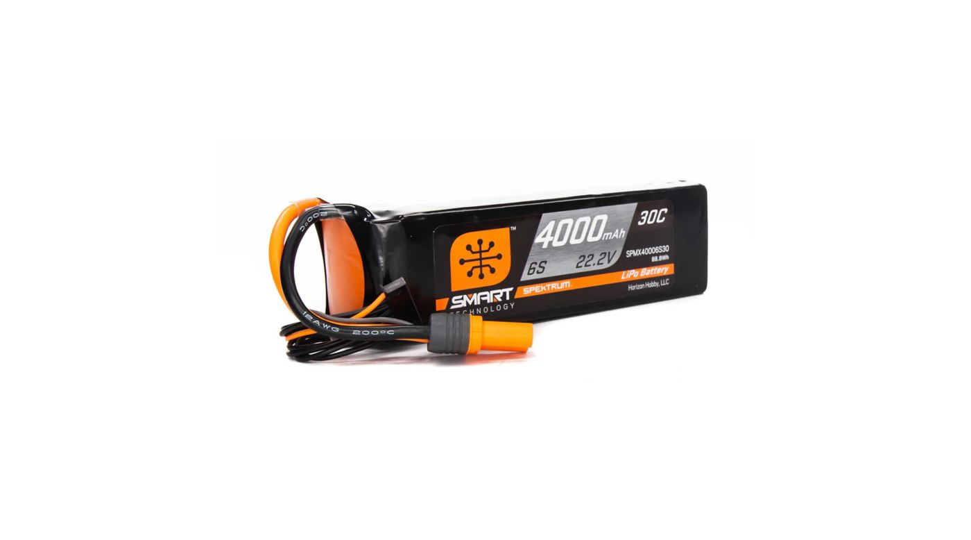 Image for 22.2V 4000mAh 6S 30C Smart LiPo Battery, IC5 from Horizon Hobby