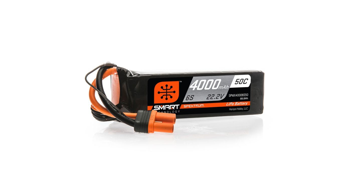 Image for 22.2V 4000mAh 6S 50C Smart LiPo Battery, IC5 from HorizonHobby