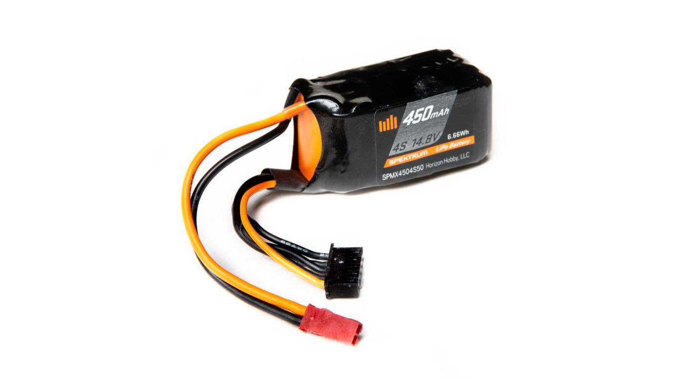 Image for 14.8V 450mAh 4S 50C LiPo Battery, JST from HorizonHobby