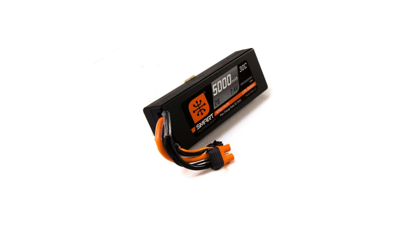 Image for 7.4V 5000mAh 2S 30C Smart LiPo Battery, Hardcase, IC3 from HorizonHobby
