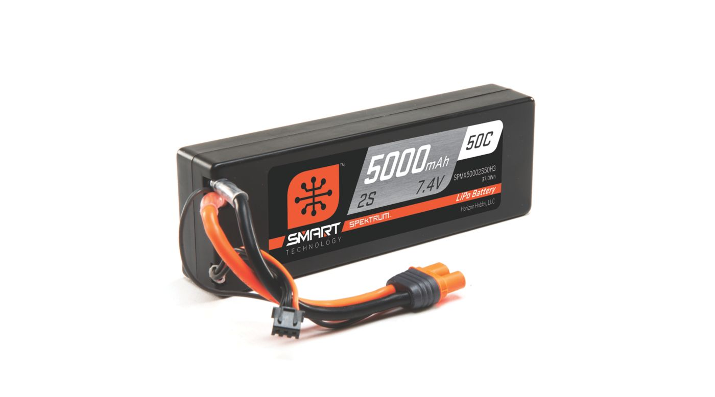 Image for 7.4V 5000mAh 2S 50C Smart Hardcase LiPo Battery: IC3 from HorizonHobby
