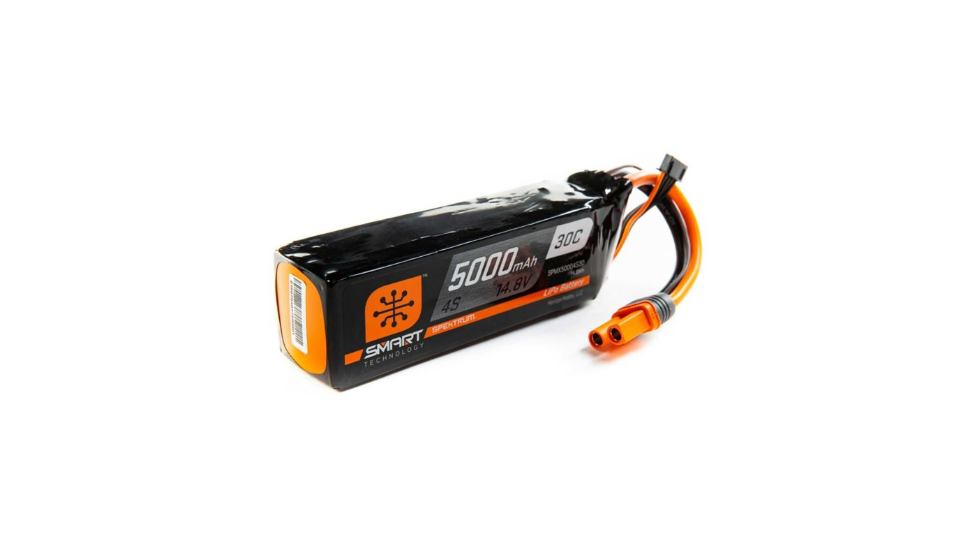 Image for 14.8V 5000mAh 4S 30C Smart LiPo, IC5 from HorizonHobby
