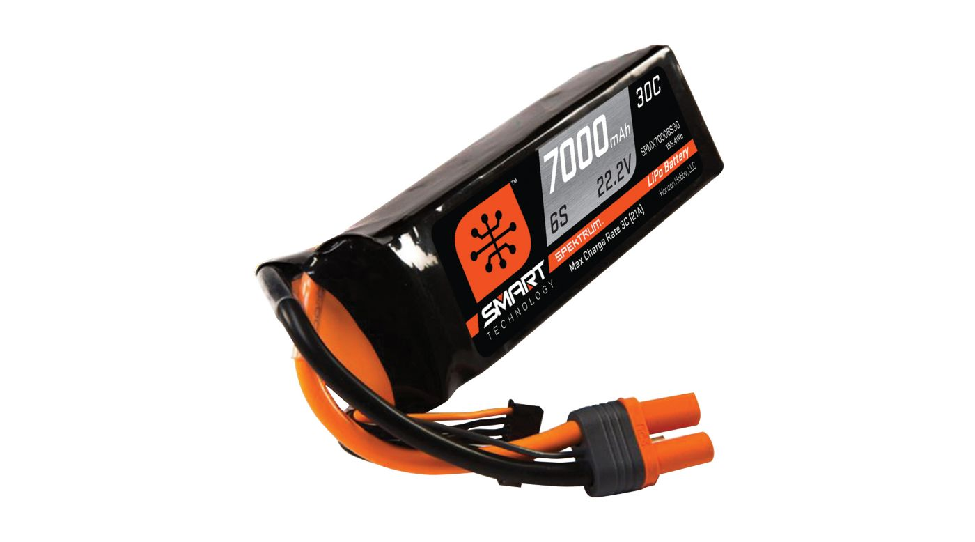 Image for 22.2V 7000mAh 6S 30C Smart LiPo Battery, IC5 from HorizonHobby