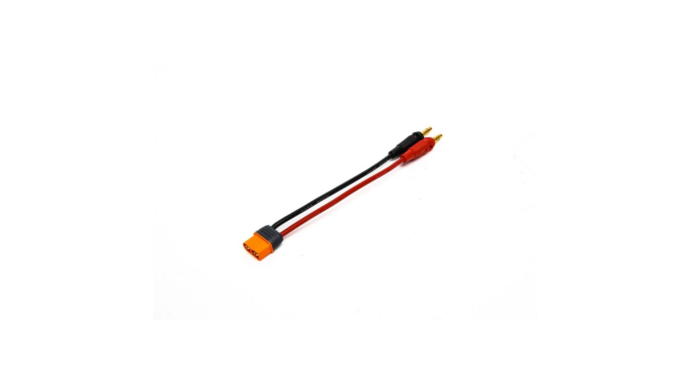 Image for IC3 Device Charge Lead and 13 AWG 4mm Bullets from HorizonHobby
