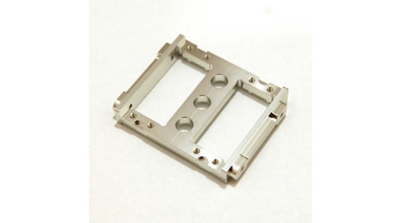 Image for CNC Machined Front Servo Mount Tray, Silver: Enduro from HorizonHobby
