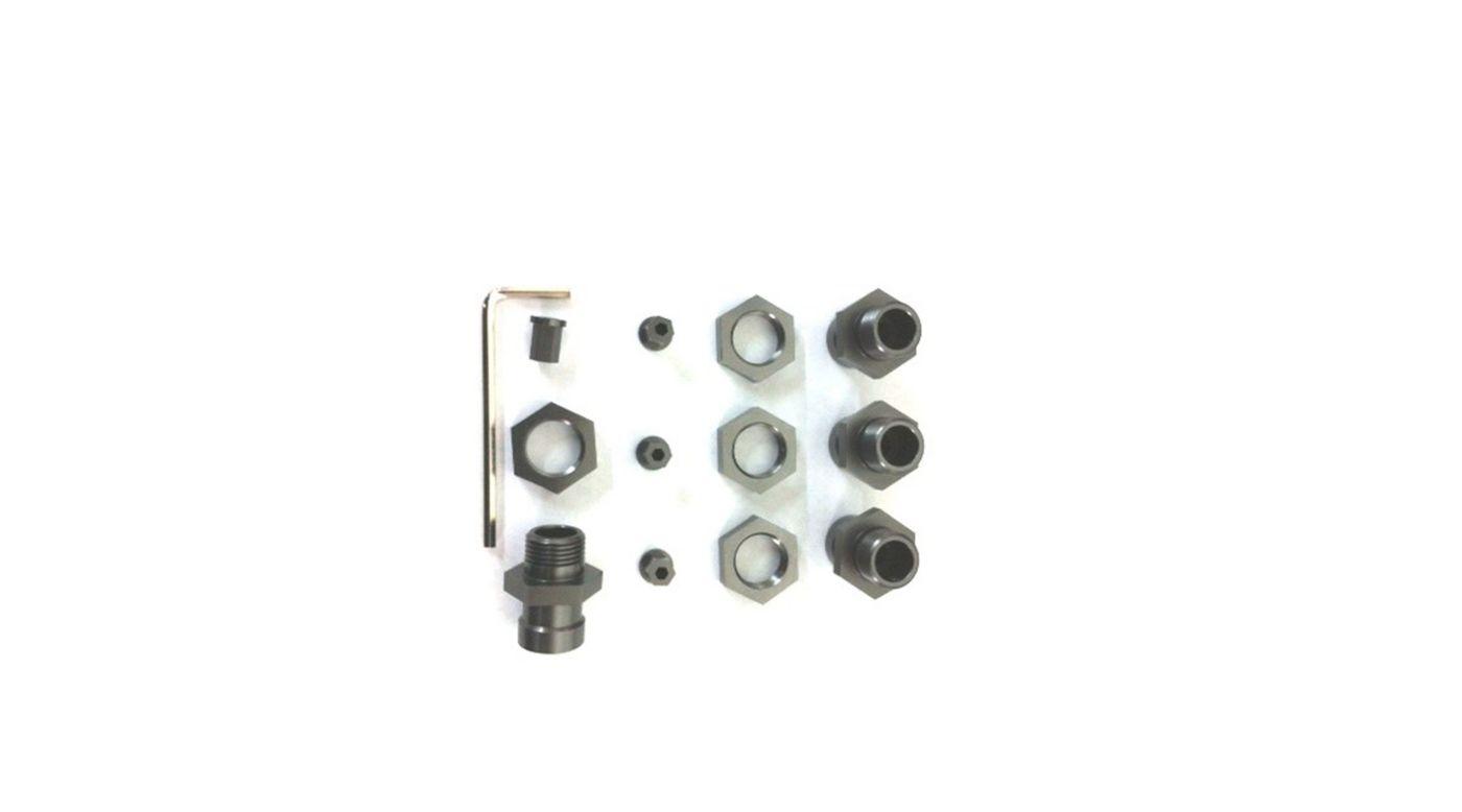 Image for 17mm Hex Conversion Kit, Gun Metal: Slash 4x4, Rally, Stampede 4x4 from HorizonHobby