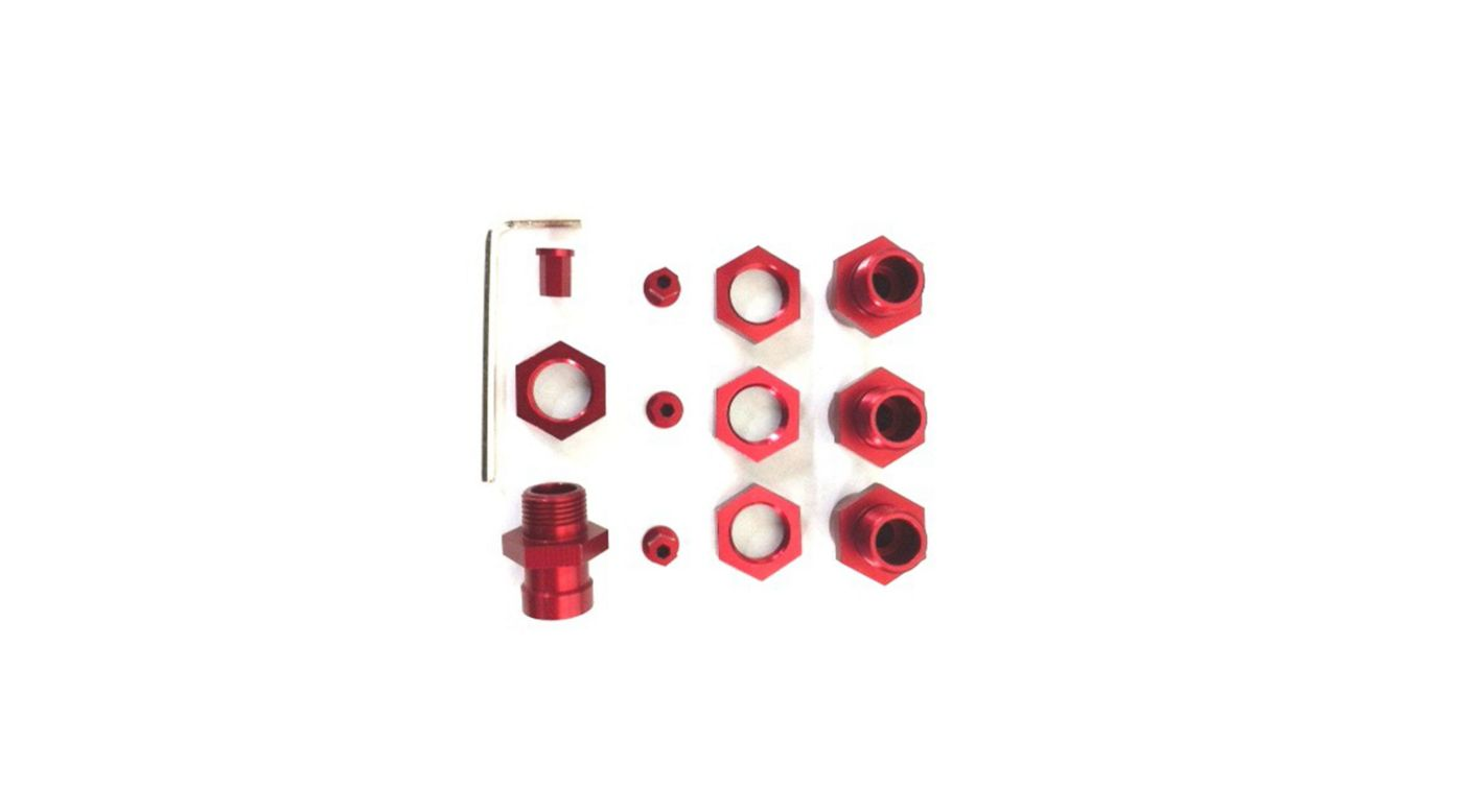 Image for 17mm Hex Conversion Kit, Red: Slash 4x4, Rally, Stampede 4x4 from HorizonHobby