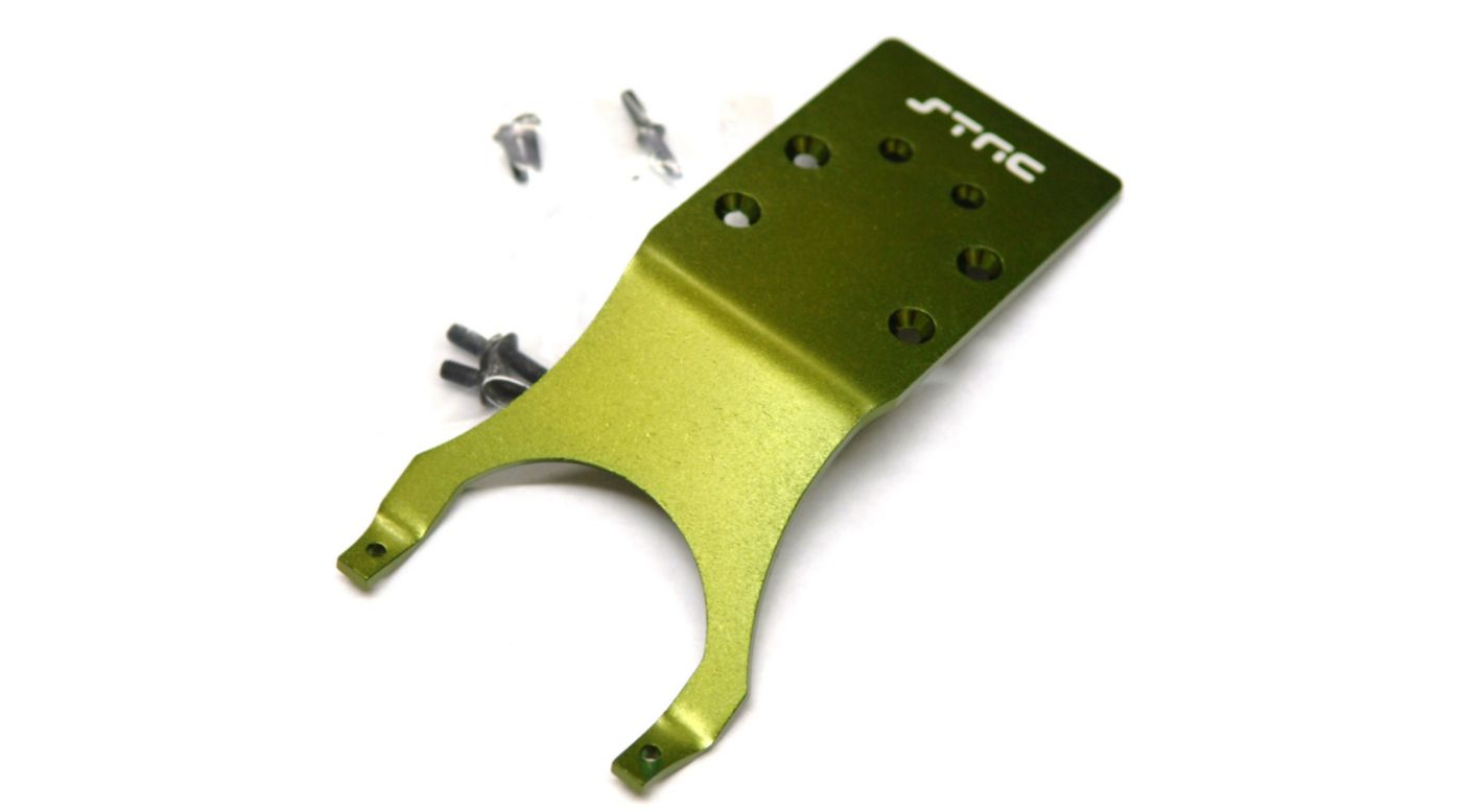 Image for Aluminum Rear Skid Plate, Green: Slash, Stampede, Monster Jam from HorizonHobby