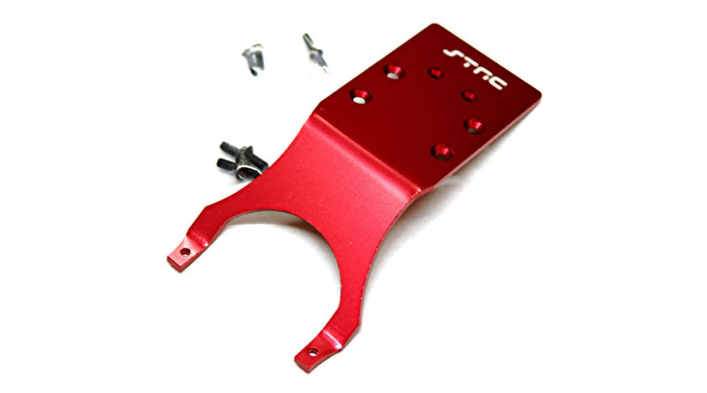 Image for Aluminum Rear Skid Plate, Red: Slash, Stampede, Monster Jam from HorizonHobby