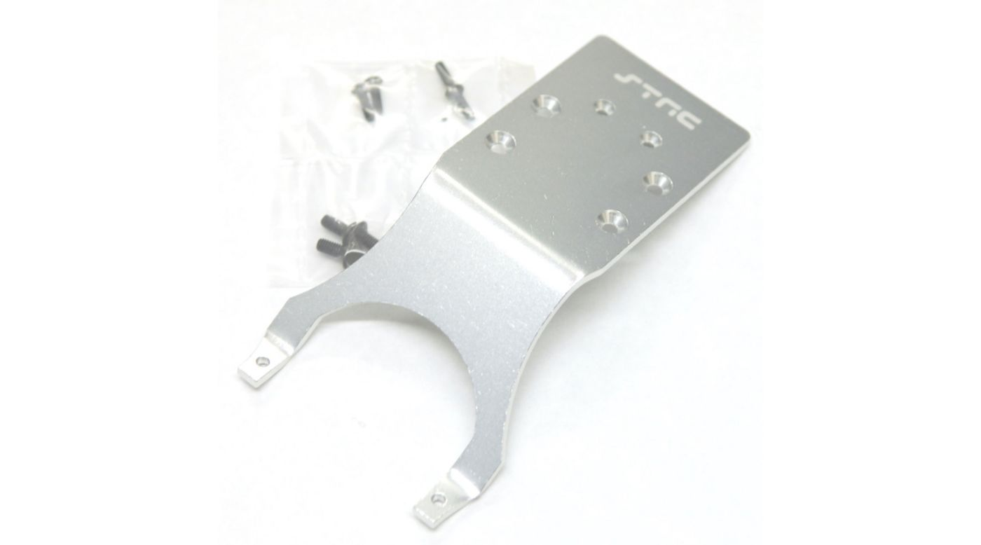 Image for Aluminum Rear Skid Plate, Silver: Slash, Stampede, Monster Jam from HorizonHobby