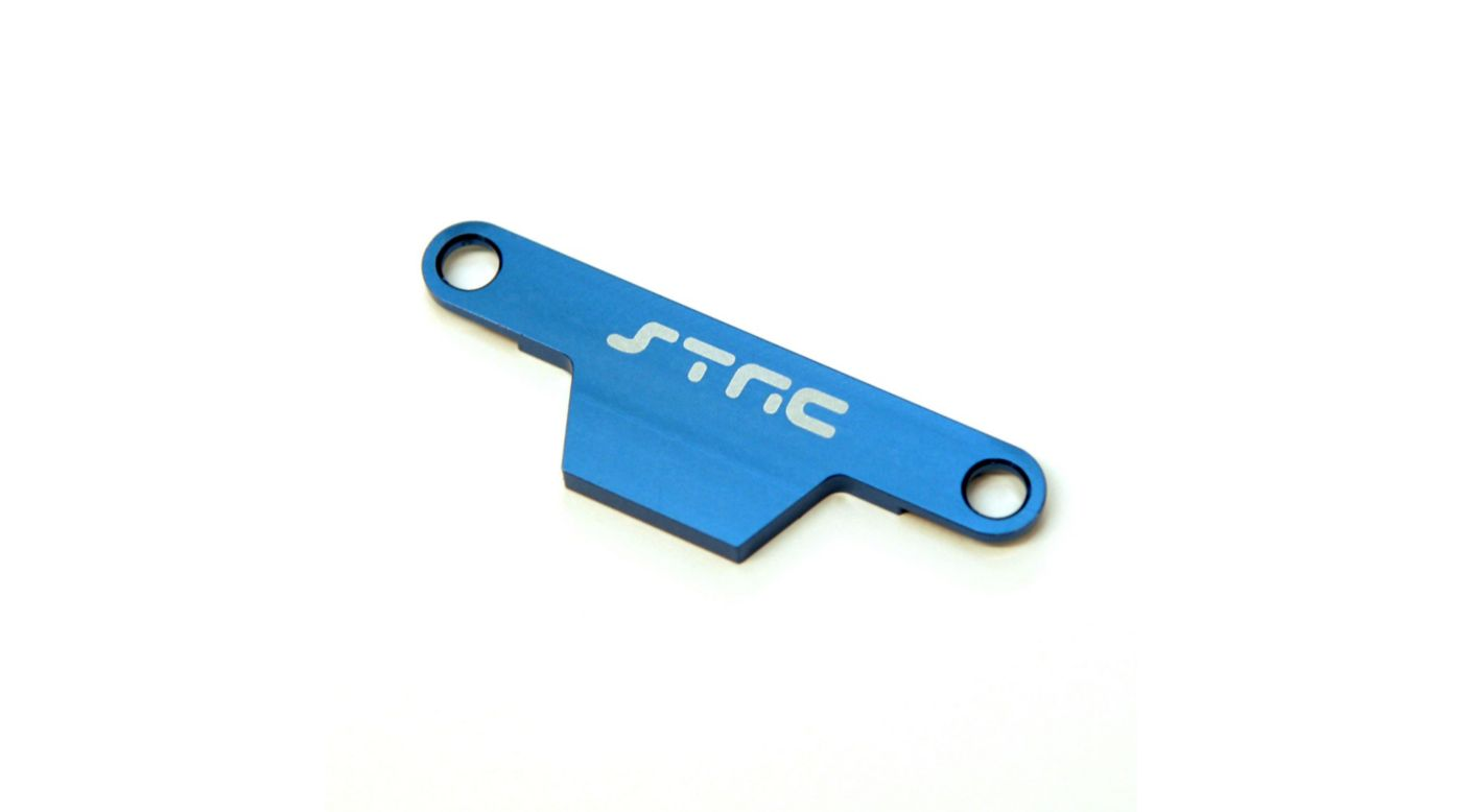 Image for Aluminum HD Battery Hold Down Plate, Blue: Stampede, Bigfoot from HorizonHobby