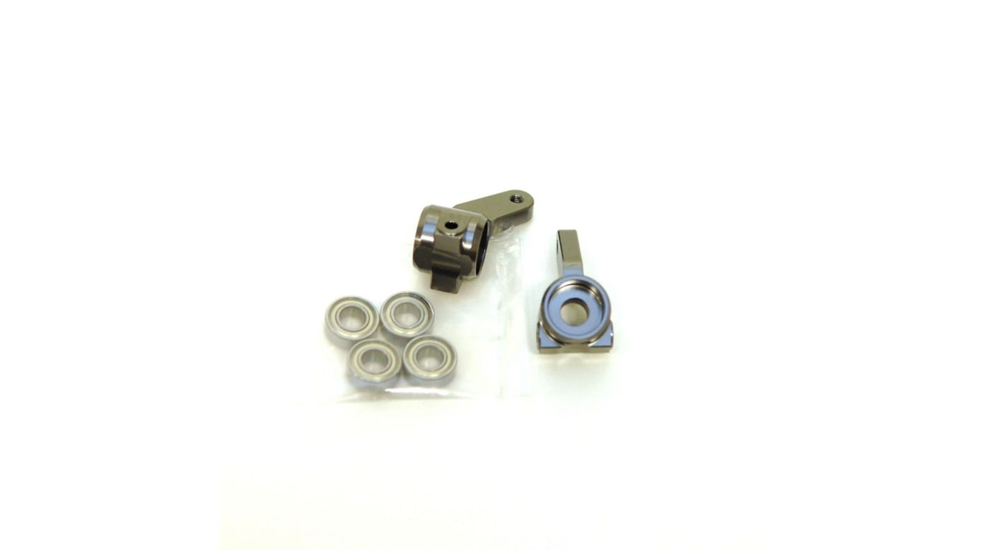 Image for Oversize Aluminum Front Steering Knuckles, Gun Metal: Stamped, Rustler, Bandit, Slash from HorizonHobby