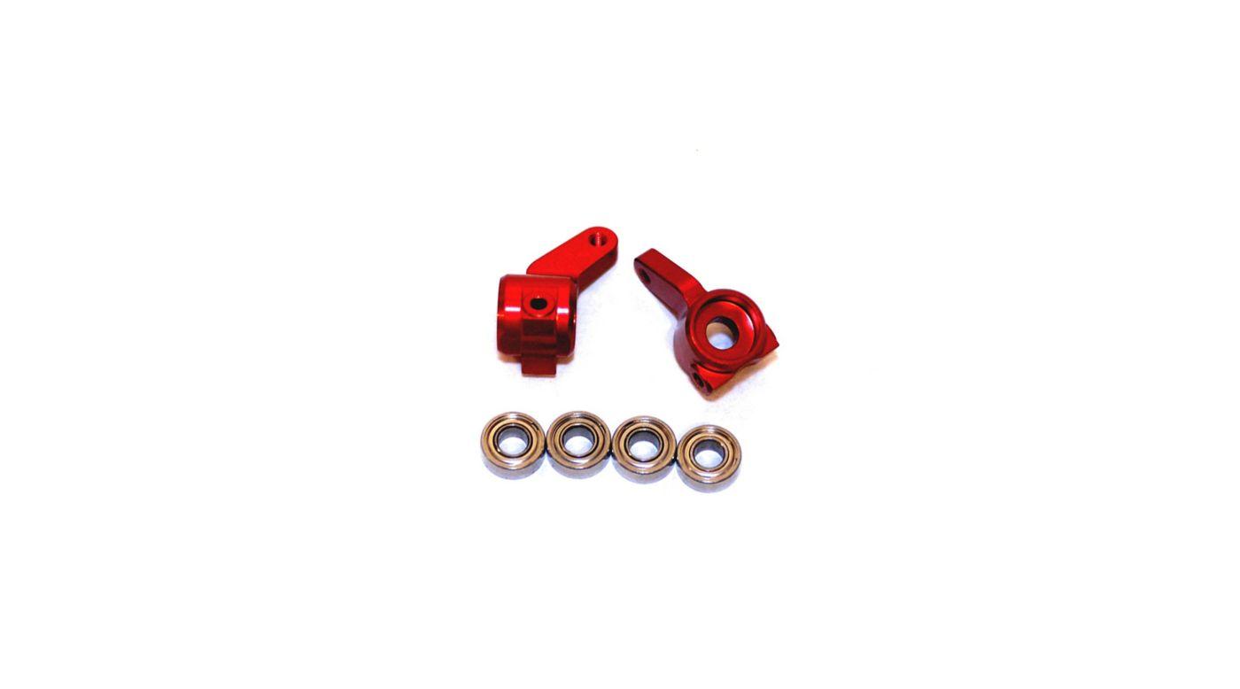 Image for Oversize Aluminum Front Steering Knuckles, Red: Stamped, Rustler, Bandit, Slash from HorizonHobby