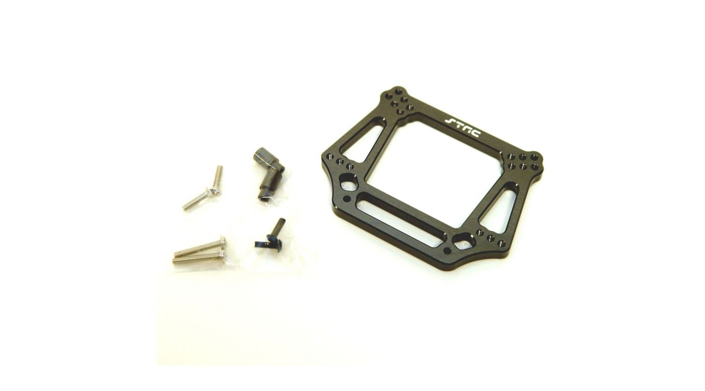 Image for Aluminum Front Shock Tower, Gun Metal: Slash, Stampede, Rustler, Bandit from HorizonHobby