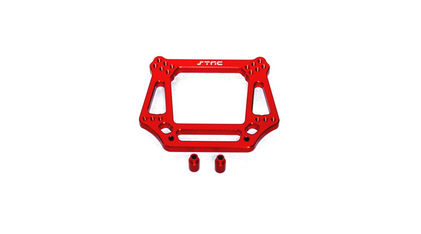 Image for Aluminum Front Shock Tower, Red: Slash, Stampede, Rustler, Bandit from HorizonHobby