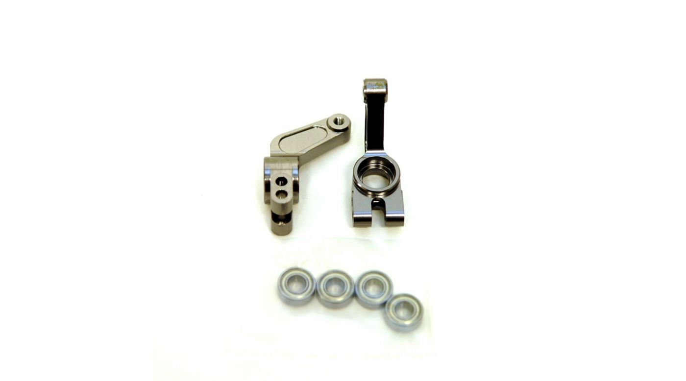 Image for Oversize Aluminum Rear Hub, Gun Metal: Stampede, Rustler, Bandit, Slash from HorizonHobby