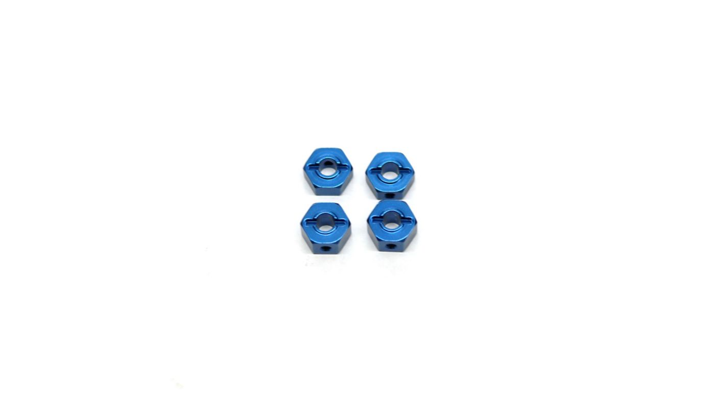 Image for Lock-Pin Hex Adapter, Blue: Stamped, Rustler, Bandit, Slash from HorizonHobby
