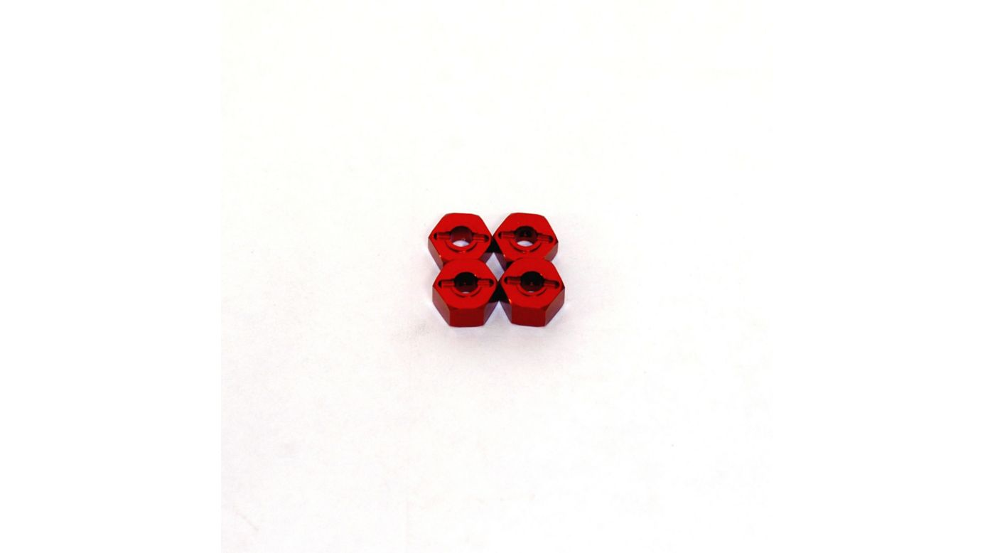 Image for Lock-Pin Hex Adapter, Red: Stampede, Rustler, Bandit, Slash from HorizonHobby