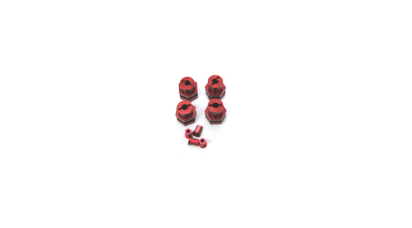 Image for 17mm Hex Conversion Kit, Red: Slash, Stamped, Rustler, Bandit from HorizonHobby