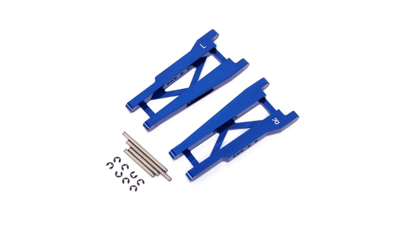 Image for Aluminum Rear Suspension Arms with Hinge-Pins, Blue: Stamped, Rustler from HorizonHobby