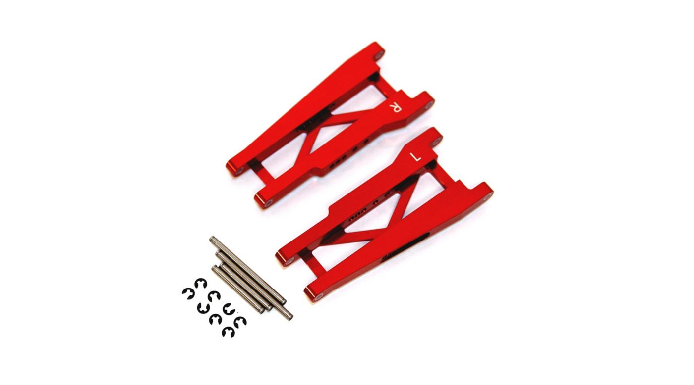 Image for Aluminum Rear Suspension Arms with Hinge-Pins, Red: Stamped, Rustler from HorizonHobby